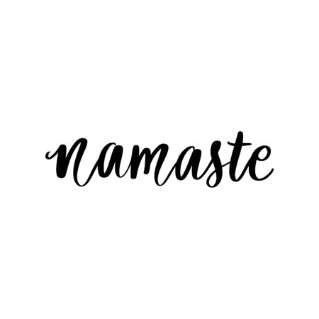 Hand drawn namaste vector quote. Hello in hindi. Indian phrase.  イラスト・ベクター素材