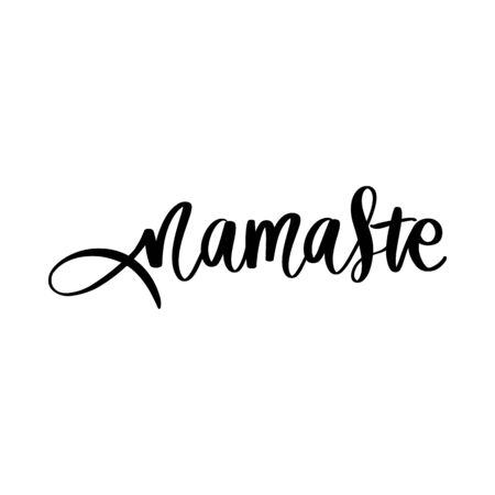 Hand drawn namaste vector quote. Hello in hindi. Indian phrase. Illustration