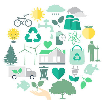 clean energy: Environmental Care Vector Image for Your Projects
