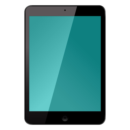 electronic tablet: Isolated Electronic Tablet Gadget Vector Illustration for Your Projects