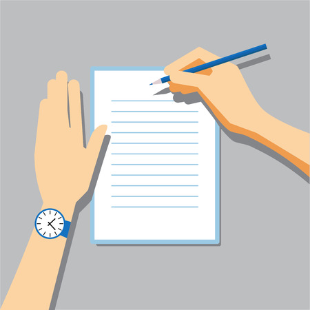 write: Paper Signing Flat Vector Illustration for Your Projects