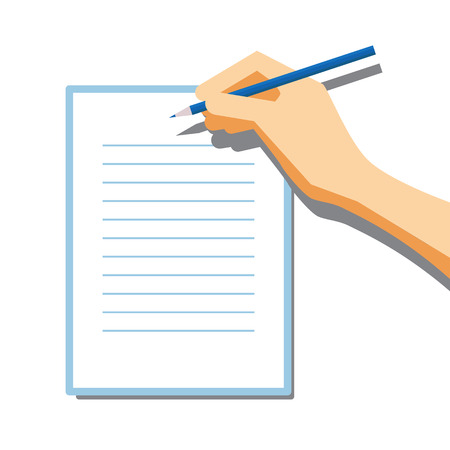 signing document: Paper Signing Flat Vector Illustration for Your Projects