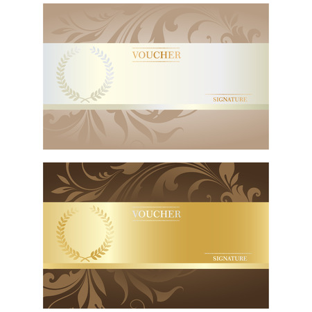 golde: Beautiful Voucher Card Set, Vector Illustration for Your Projects
