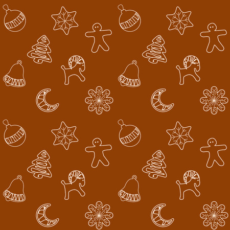 ginger bread: Christmas Ginger Bread Cookies Seamless Pattern, Vector Illustration for Your Projects