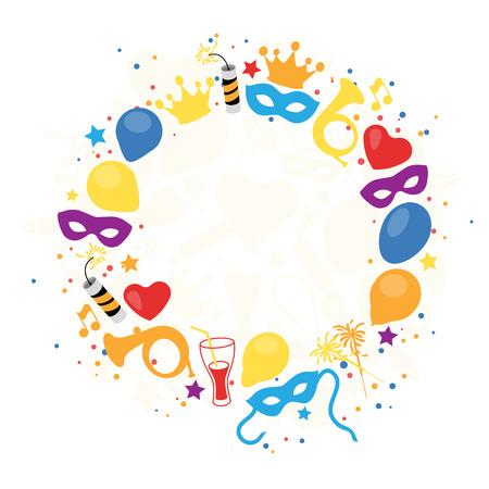 Carnaval, Festival, Fête, Décoration anniversaire, Vector Vecteurs