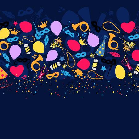 Carnaval, Festival, Fête, Décoration anniversaire, Vector