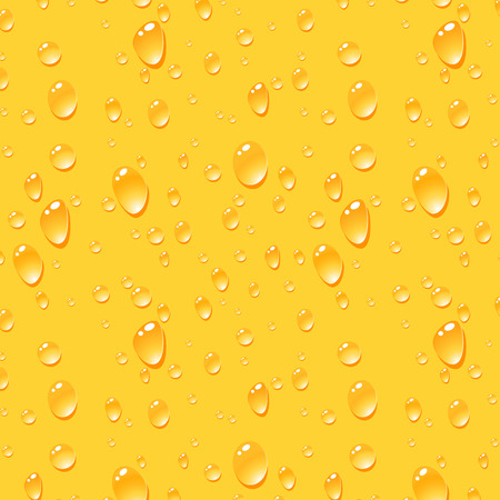 condensation on glass: Beer Drops Background, Seamless Vector Pattern Illustration