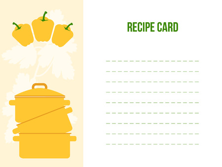 recipe background: Recipe Card, Flat Vector Illustration