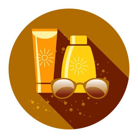 Summer Sun Protection Flat Vector Illustration