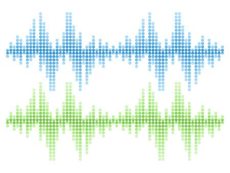 Aislado de sonido Audio Wave Vector Set Foto de archivo - 44037769
