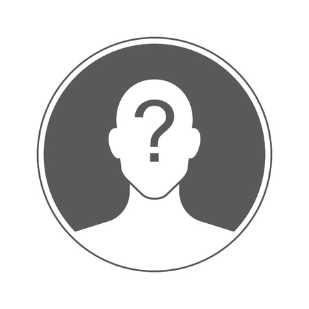 unknown: male unknown user social icon, isolated vector image for your projects