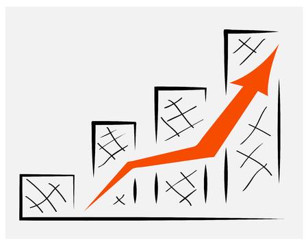 Information schedule of revenue growth,for design presentations Illustration