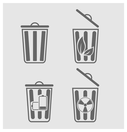 raw material: Trash can icon