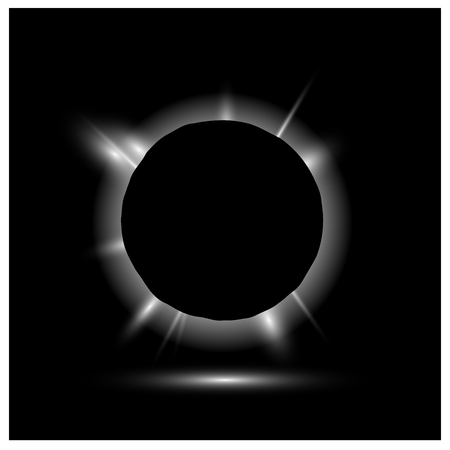 eclipse: Solar eclipse, vector