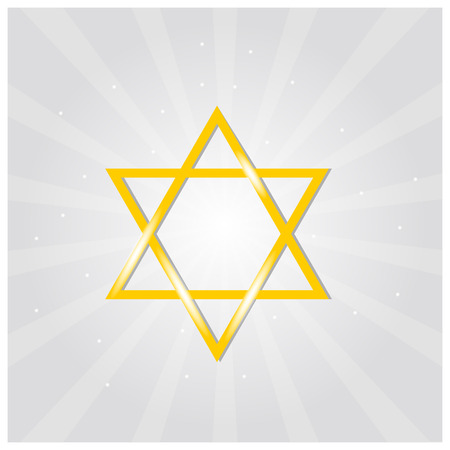 magen: Vector illustration of golden Magen David (star of David) Illustration