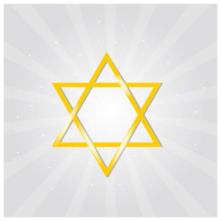 magen: Vector illustration of golden Magen David (star of David) Illustration