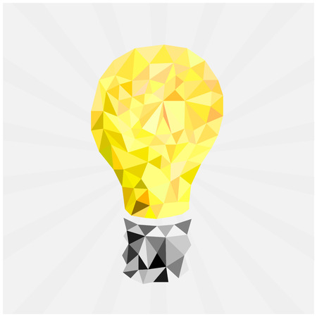 electric bulb: glass lamp in polygonal style Illustration