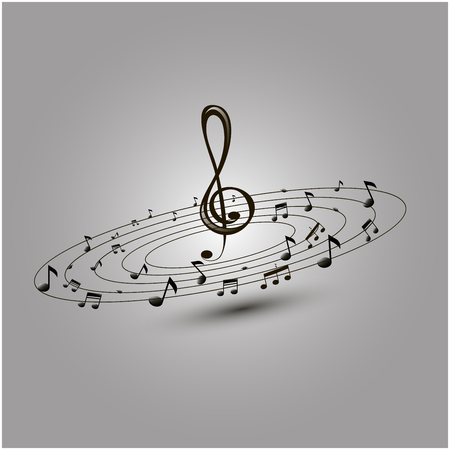 music notes vector: Music notes. Vector illustration.