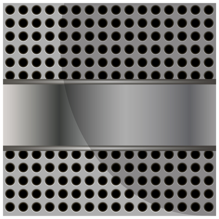 industrial hole: Abstract metal background with place for your text