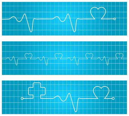 cardiogram: Heart beats cardiogram - Vector