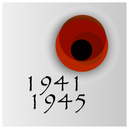 poppy flower Remembrance Day vector background