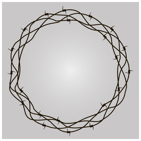 prison guard: Barbed Wire Ring Illustration
