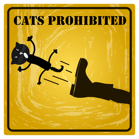 prohibited: Sign cats prohibited