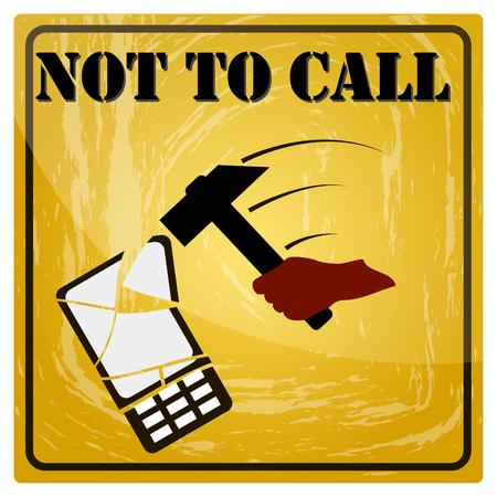 Sign forbidding to make phone calls