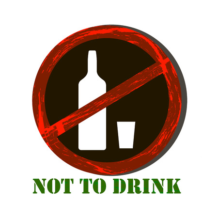 not permitted: No alcohol sign Illustration