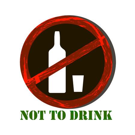No alcohol sign Çizim