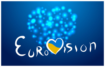 The background of the Eurovision song contest in Ukraine