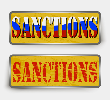sanction: Sanctions on a road sign