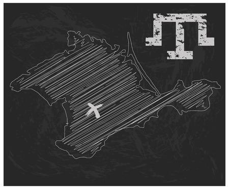 Crimea drawn by hand Çizim