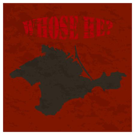 Crimea blank outline map set - Ukrainian version Çizim
