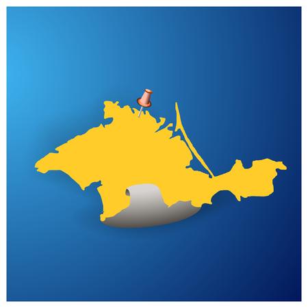 crimea: Autonomous Republic of Crimea - vector map