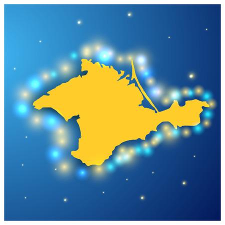 crimea: Autonomous Republic of Crimea with the glare
