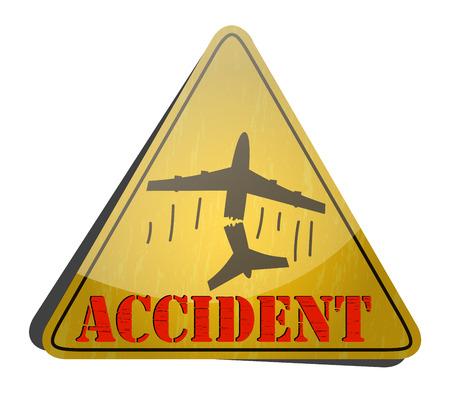 air plane: Air Accident hazard sign