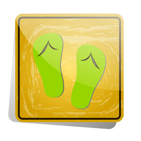 Icon-sign in Slippers are allowed