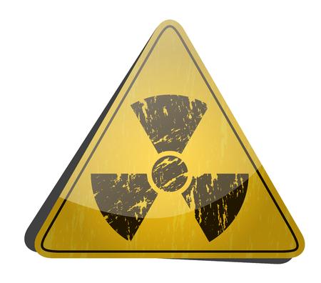 The radiation icon. Radiation symbol.