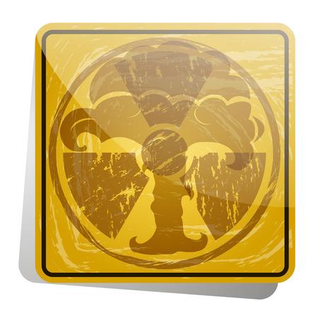atomic explosion: Atomic explosion. Doodle style Illustration