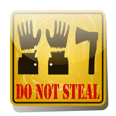 burglary: Thief with bag of money vector illustration