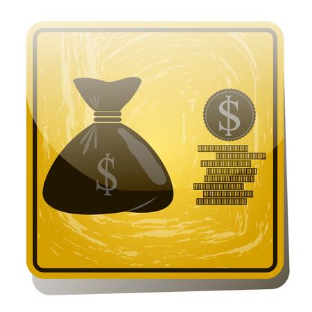 Money bag icon Çizim