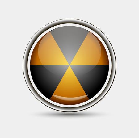 radium: Nuclear symbol isolated on grey background