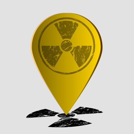 plutonium: The radiation icon . Radiation symbol . Vector illustration