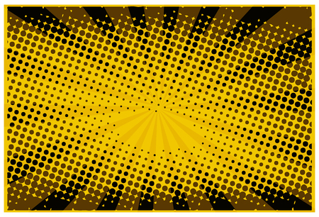 Vector halftone dots. Yellow dots on yellow background.