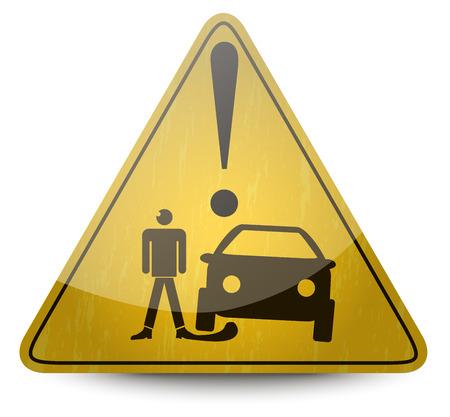 roadsigns: Yellow Roadsigns Set Illustration