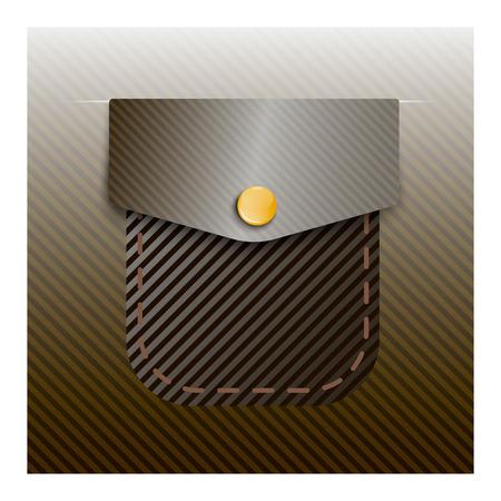 pocket: pocket sewn thread Illustration
