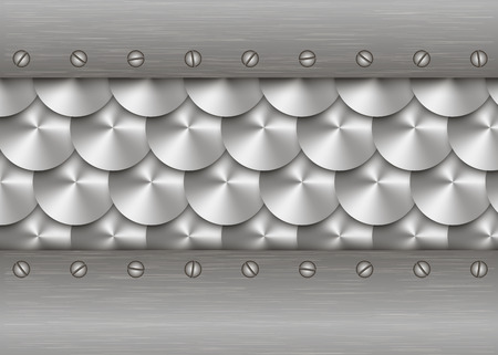 patten: Background of metal with repetitive patten