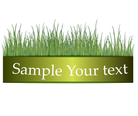 Green grass banners illustration.