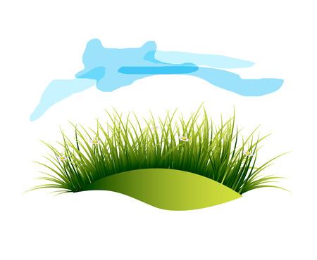 clouds scape: Green Landscape